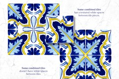 Portuguese Azulejos. Watercolor Patterns and Tiles. Product Image 5