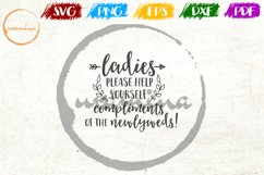 Ladies Please Help Yourself Wedding Quote Sign Art Product Image 1