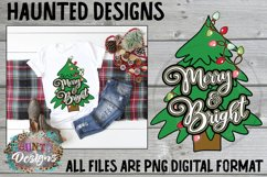 Merry Christmas Tree Sublimation Bundle Clip Art Design Product Image 5