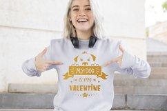 Valentine dog svg, dog lover quote svg, dog valentines svg Product Image 3