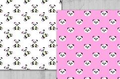 Panda Digital Paper, panda Boy Background, Animals. Product Image 3