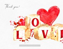 Watercolor valentine clipart, Cute valentine's cards DIY Product Image 5