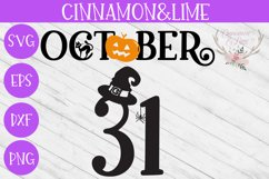 October 31 Halloween Wood Sign SVG Cut File Product Image 1
