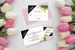 Asymmetric Tulips Wedding Invitation Kit Product Image 3