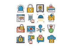 Security icons set Product Image 1