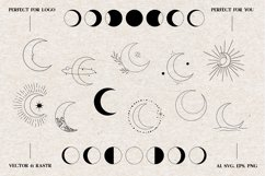 Moon vector icons, Moon Clipart, Logo Elements Product Image 2