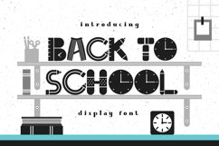 Back To School Font Product Image 1