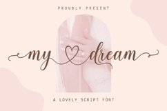 My Dream - Lovely Script Font Product Image 1