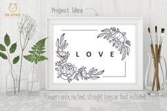 Flower Wreaths SVG Bundle , Flower monogram cut file Product Image 6
