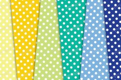 Polka dots and flowers seamless pattern, floral background Product Image 3