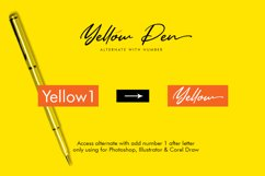 Yellow Pen Script Product Image 5