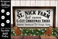 Farm Fresh Christmas Trees Sign SVG Product Image 1