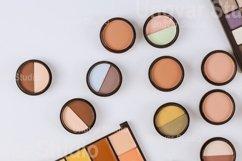 Set of eyeshadows in pastel beige colors pallet brown matte Product Image 1