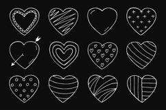 Hand drawn hearts + seamless pattern Product Image 3