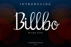 Billbo Script Font Product Image 1