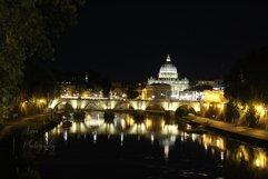 Vatican Bridge at Night at Distance  Product Image 1