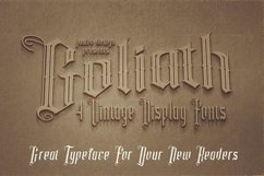 Goliath - Display Font Product Image 6