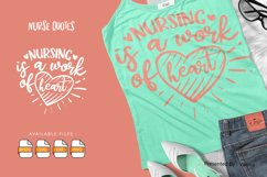 Nursing Is A Work Of Heart   Lettering Quotes Product Image 1