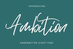 Ambition - Script Font Product Image 1