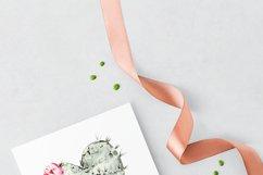 Watercolor cactus clipart, Cute cactus png. Love cactus Product Image 6