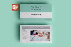 PPT Template | Company Presentation - Green and Marble Product Image 1