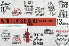 Funny Wine Bundle SVG, DXF, PNG, EPS Product Image 1