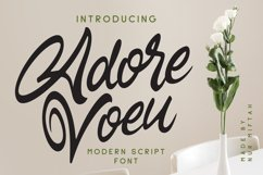 Adore Voeu - Modern Script Font Product Image 1