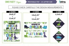 Printable Dinosaur Signs, Dinosaur party, Welcome Signs Product Image 2