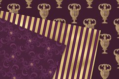 Victorian Purple and Gold Digital Paper Product Image 2