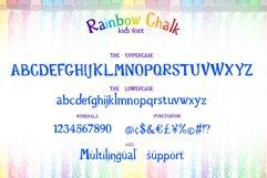 Rainbow Chalk fun kids font Product Image 2