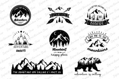 Adventure svg bundle, adventure quotes, mountain camping svg Product Image 2