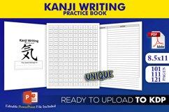 Kanji Practice Book | KDP Interior Template Editable Pptx Product Image 1