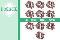 Flower Multi layer mandala 6 layers numbers 0-9 bundle Product Image 1