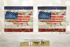 Patriotic tumbler design USA flag sublimate tumbler Product Image 2