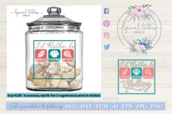 I'd Rather Be Shelling SVG DXF Cut File LL034C Product Image 1