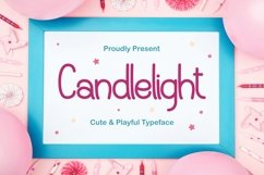 Candlelight - Cute & Playful Typeface Product Image 1