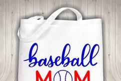 Baseball mom SVG - Sports mom SVG file, handlettered Product Image 3