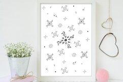Floral Doodle Ink Pattern, A1, SVG Product Image 4