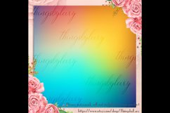 16 Rainbow Gradient Texture Digital Papers, Fairy Tale Paper Product Image 2