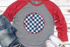 Baseball Mom - 4th of July - Buffalo Plaid Baseball SVG Product Image 1
