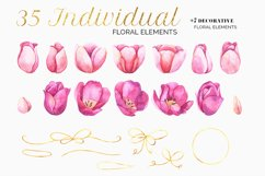 Tulips Watercolor Floral Bundle Product Image 4