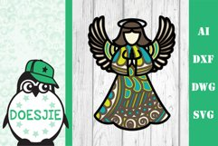 Christmas bundle 5 designs 3d layered mandala zentangle svg Product Image 4