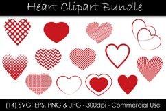 Heart SVG Bundle - Heart Shape Clip Art Product Image 1