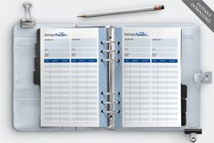 """7"""" x 9.25"""" Paycheck Budget Printable Planner Product Image 5"""