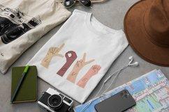 ASL, Sign Language designs bundle for sublimation printing Product Image 5