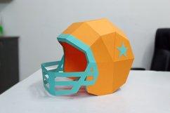 DIY Football Helmet - 3d papercraft Product Image 3
