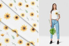 Watercolor Sunflowers Clipart Product Image 4