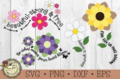 Flower SVG Bundle-Inspirational Words-Spring Flowers Bundle Product Image 1