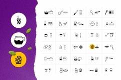 Web Font Kitchenware Dingbat Product Image 2