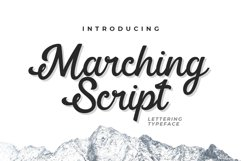 Web Font Marching Script Product Image 1